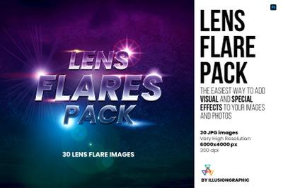 Lens Flare Pack - 30 JPG