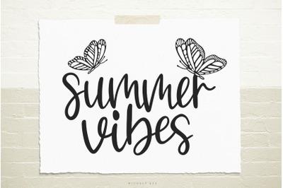Summer vibes svg cut file