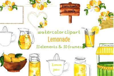 Lemonade Stand, Summer Clipart