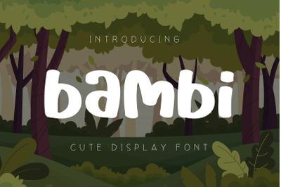 Bambi Cute Display Font
