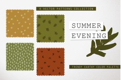SUMMER EVENING  4 vector patterns pack