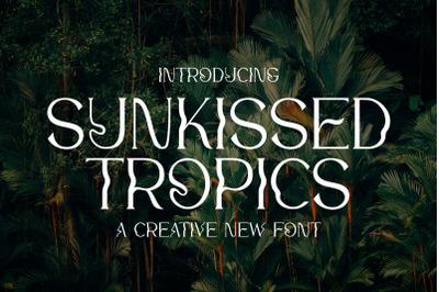 Sunkissed Tropics Font (Vintage Fonts, Retro Fonts, Hipster Fonts)