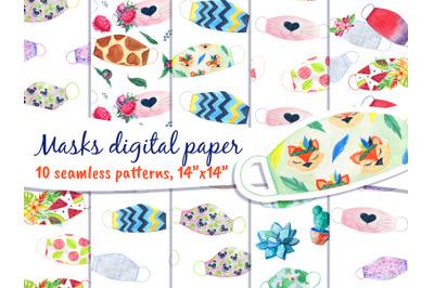 Face Mask Digital Paper Pack