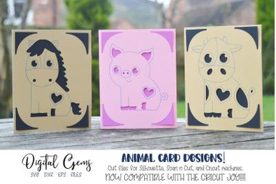 Animal card designs