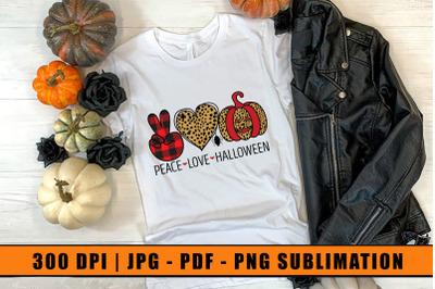 Peace Love Halloween Sublimation, Sublimation Design