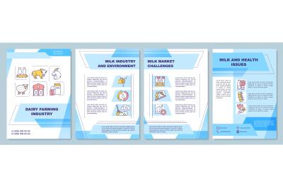 Dairy farming industry brochure template