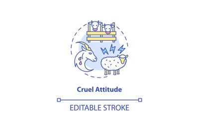 Cruel attitude concept icon