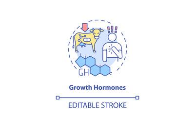Growth hormones concept icon