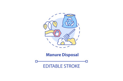 Manure disposal concept icon