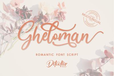 Gheloman - Romantic Font Script