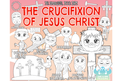 The Crucifixion of Jesus Digital Stamps