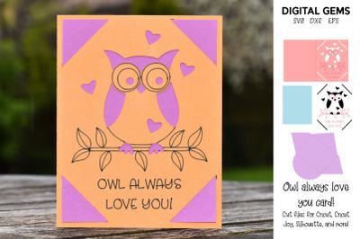 Owl Cricut Joy / Explore / Maker Card