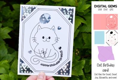 Cat Cricut Joy / Explore / Maker card