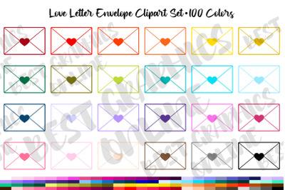 Envelope Clipart Set, Love Letter Envelopes Clipart Graphics