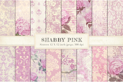 Pink vintage chic backgrounds