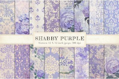 Purple vintage shabby chic