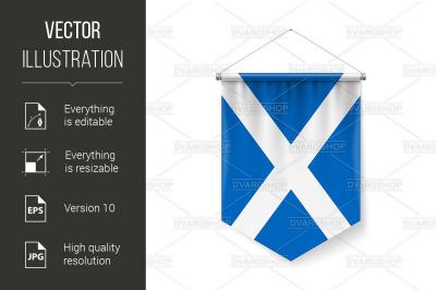 Pennant Flag Icon of Scotland