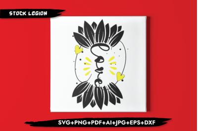 Sunflower Love SVG