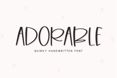 Adorable - Quirky Handwritten Font