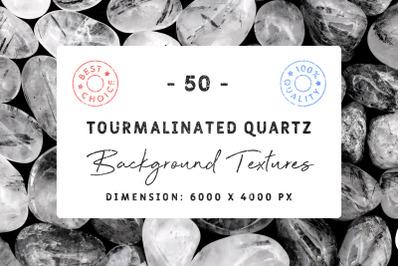 50 Tourmalinated Quartz Background Textures
