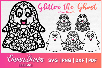 GLITTER THE GHOST SVG 6 Mandala Zentangle Designs