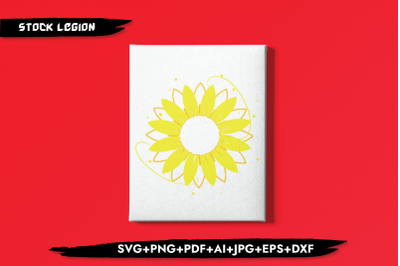 Sunflower yellow SVG