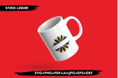 Sunflower Frame SVG
