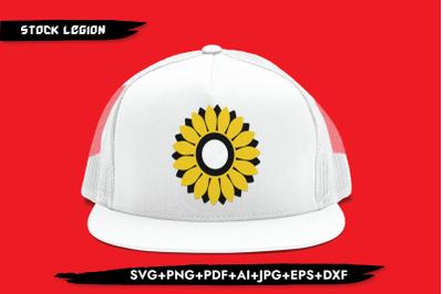 Sunflower Yellow Petals SVG