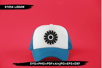 Sunflower Black SVG