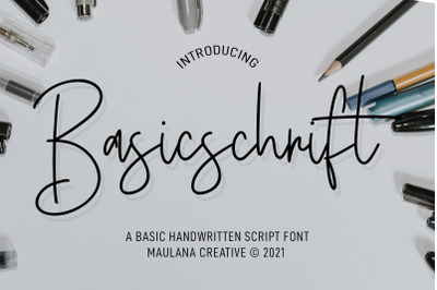 Basicschrift Monoline Script Font