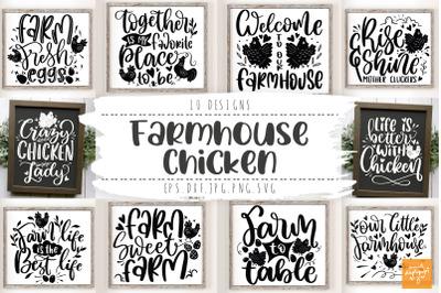 Farmhouse Bundle Animal Farm Quotes Chicken SVG
