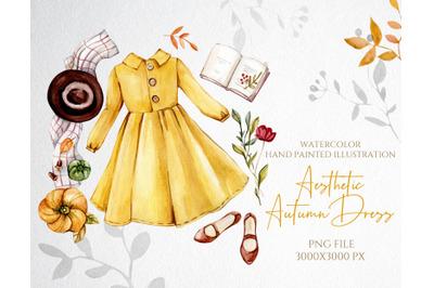 Watercolor Autumn Fashion