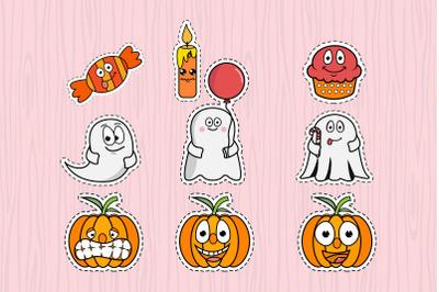 cute halloween character sticker