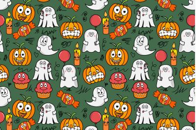 cute halloween seamless pattern