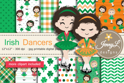 Irish Dancers digital papers and Clipart