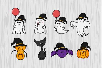 cute halloween character cartoon illustration