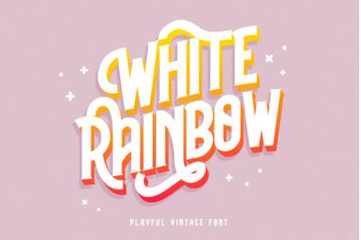 White Rainbow Playful Vintage Font