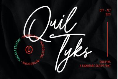 Quiltyks Script Font