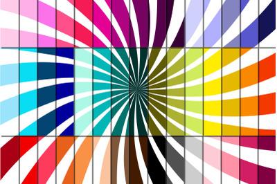 Starburst Swirl Pattern Digital Papers, Rays Swirl Digital Paper Pack