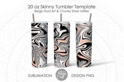 Tumbler sublimation designs with fluid art for 20 oz tumbler