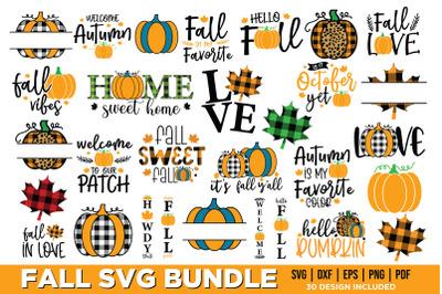 Fall SVG Bundle, Pumpkin SVG, Fall