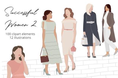 Successful Women 2 Illustration Set