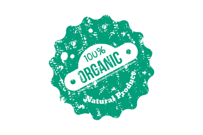Organic and eco, healthy stamp to product