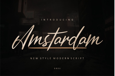 Amstardam | Modern Script Font