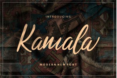Kamala | Script Font