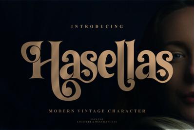 Hasellas | Modern Vintage Serif