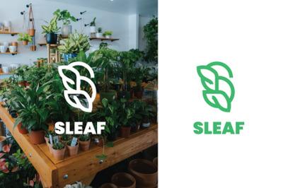 Sleaf Green Nature Logo Template