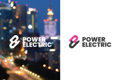 Electric Power Logo Template
