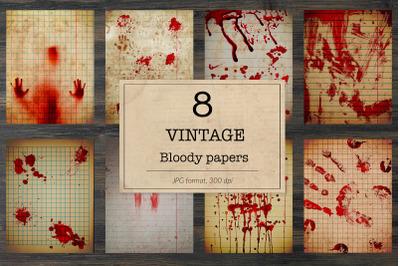 Bloody notebook digital paper