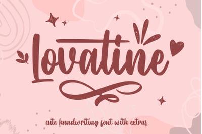 Lovatine - Cute Font